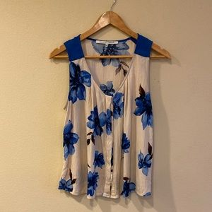 Blue Flowered Top